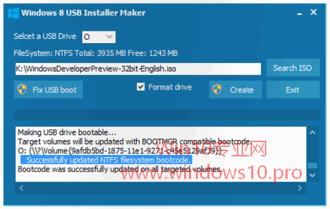 Win10安装U盘制作工具:Windows 8 USB Installer Maker