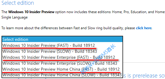 Windows Insider Preview Downloads - Select edition